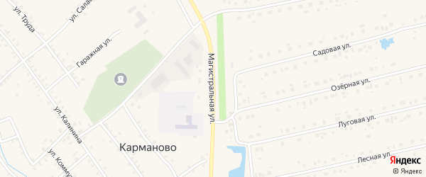 Магистральная улица на карте села Карманово с номерами домов