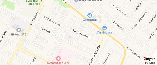 Улица Строителей на карте села Буздяк с номерами домов