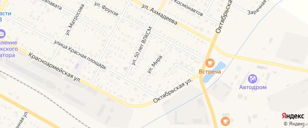 Улица Мира на карте села Буздяк с номерами домов