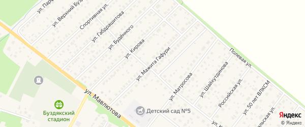 Улица М.Гафури на карте села Буздяк с номерами домов