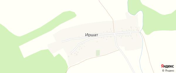 Центральная улица на карте деревни Иршата с номерами домов