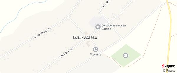 Улица Ленина на карте села Бишкураево с номерами домов