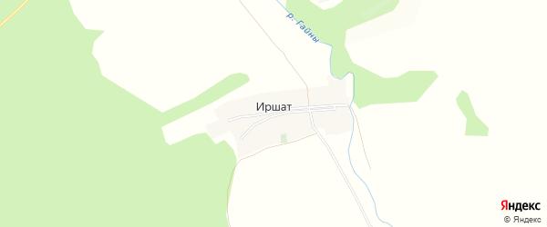 Карта деревни Иршата в Башкортостане с улицами и номерами домов