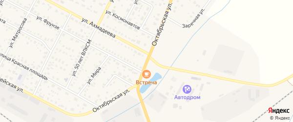 Октябрьская улица на карте села Буздяк с номерами домов