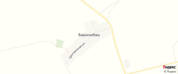 Карта деревни Барьязибаша в Башкортостане с улицами и номерами домов