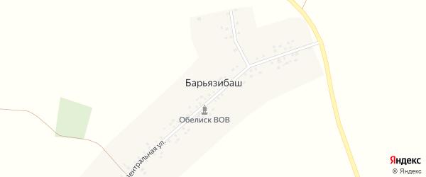 Центральная улица на карте деревни Барьязибаша с номерами домов