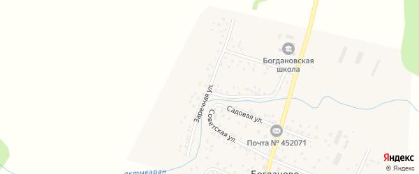Заречная улица на карте села Богданово с номерами домов