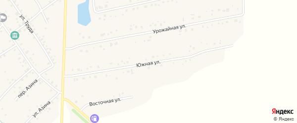Южная улица на карте села Карманово с номерами домов
