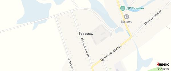 Улица Дружбы на карте села Тазеево с номерами домов