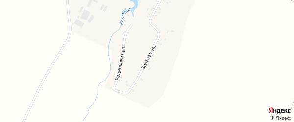 Зеленая улица на карте Никольского села с номерами домов