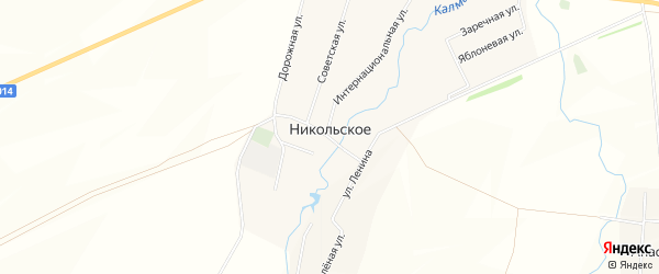 Карта Никольского села в Башкортостане с улицами и номерами домов