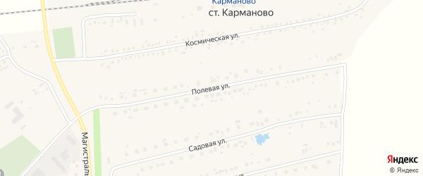 Полевая улица на карте села Карманово с номерами домов