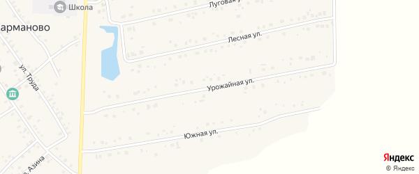 Урожайная улица на карте села Карманово с номерами домов