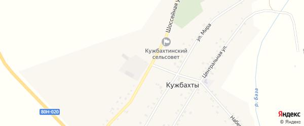 Шоссейная улица на карте села Кужбахты с номерами домов