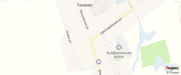 Московская улица на карте села Тазеево с номерами домов