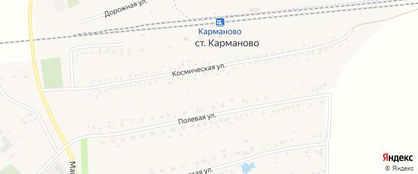 Железнодорожная улица на карте деревни Станции Карманово с номерами домов
