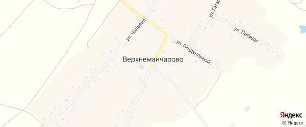 Улица М.Гиндуллиной на карте села Верхнеманчарово с номерами домов