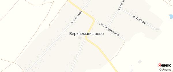 Улица Чапаева на карте села Верхнеманчарово с номерами домов