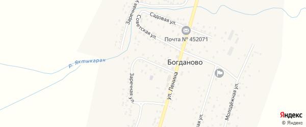 Почтовая улица на карте села Богданово с номерами домов