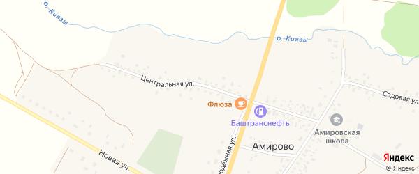 Центральная улица на карте села Амирово с номерами домов