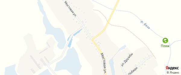 Мостовая улица на карте села Тазеево с номерами домов