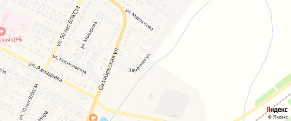 Заречная улица на карте села Буздяк с номерами домов