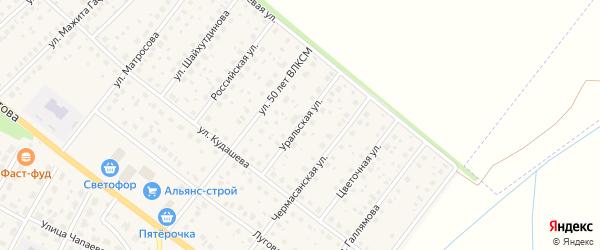 Уральская улица на карте села Буздяк с номерами домов