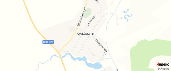 Карта села Кужбахты в Башкортостане с улицами и номерами домов