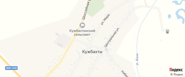Улица Мира на карте села Кужбахты с номерами домов