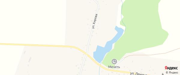 Улица Кирова на карте села Тюрюшево с номерами домов