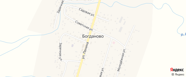 Садовая улица на карте села Богданово с номерами домов