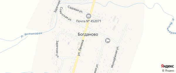 Улица Ленина на карте села Богданово с номерами домов