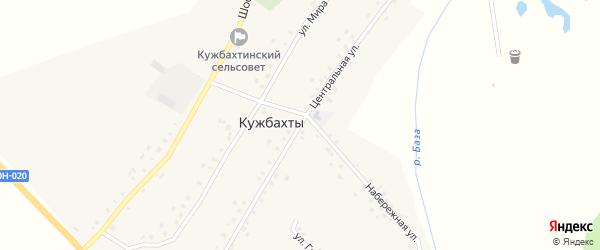 Центральная улица на карте села Кужбахты с номерами домов