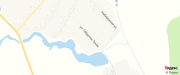 Г.Тукая улица на карте села Кужбахты с номерами домов