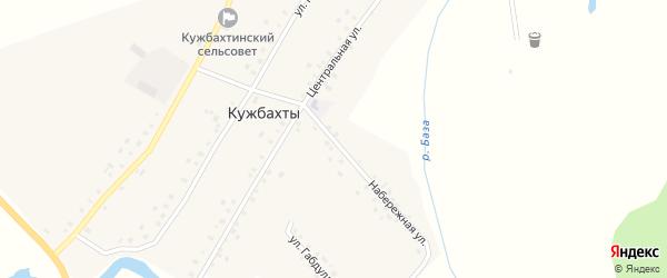 Набережная улица на карте села Кужбахты с номерами домов