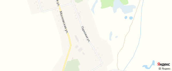 Парковая улица на карте села Кужбахты с номерами домов