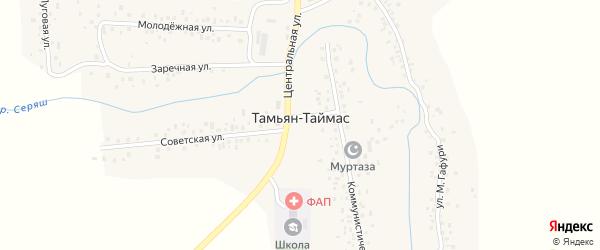Центральная улица на карте села Тамьяна-Таймаса с номерами домов