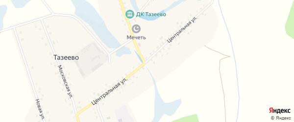 Центральная улица на карте села Тазеево с номерами домов