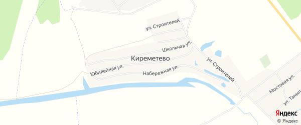 Карта деревни Киреметево в Башкортостане с улицами и номерами домов