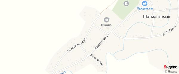 Молодежная улица на карте села Шатмантамака с номерами домов