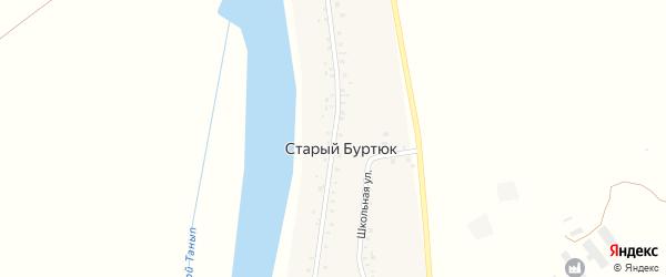 Центральная улица на карте деревни Старого Буртюка с номерами домов