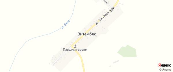 Улица Базы на карте деревни Зитембяка с номерами домов