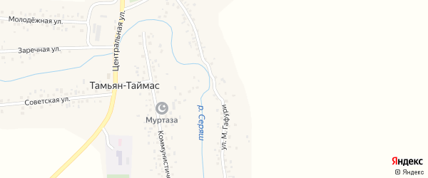 Улица М.Гафури на карте села Тамьяна-Таймаса с номерами домов