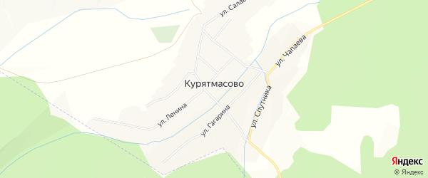 Карта села Курятмасово в Башкортостане с улицами и номерами домов