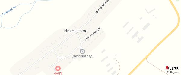 Интернациональная улица на карте Никольского села с номерами домов