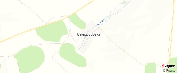 Карта деревни Самодуровки в Башкортостане с улицами и номерами домов