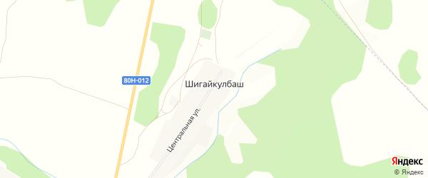 Карта деревни Шигайкулбаша в Башкортостане с улицами и номерами домов