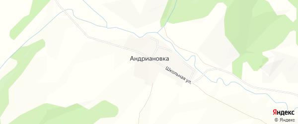 Карта деревни Андриановки в Башкортостане с улицами и номерами домов