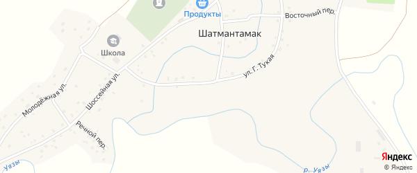 Г.Тукая улица на карте села Шатмантамака с номерами домов
