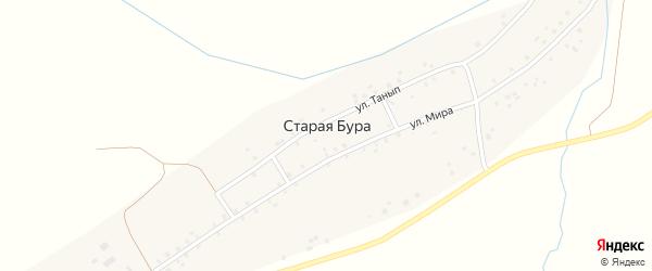 Улица Танып на карте деревни Старой Буры с номерами домов